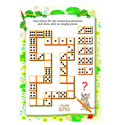Logic puzzle game for little children need vector