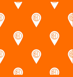 map pointer with gas station symbol pattern vector image