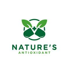 modern herbal medicine logo vector image