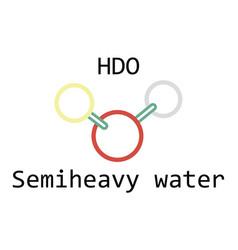 Molecule hdo semiheavy water vector