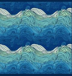 ocean waves big vector image