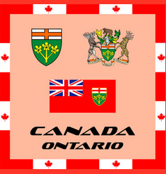 Official government elements of canada - ontario vector