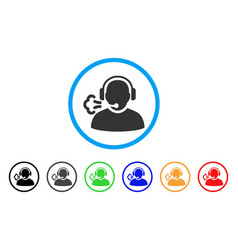 operator speech rounded icon vector image