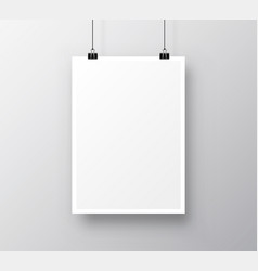 paper poster a4 on white background vector image