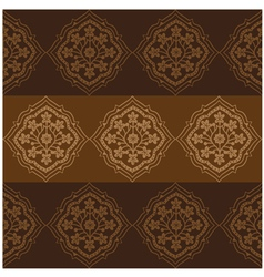 Persian Flower Pattern Brown vector