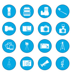 Photography icon blue vector