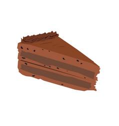 Piece cake vector
