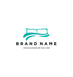 Pillow covers logo design vector
