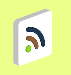 podcast rss computer symbol vector image
