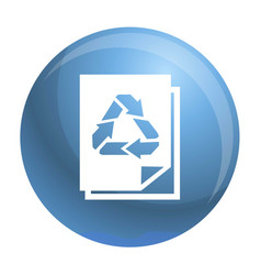 Recycle paper icon simple style vector