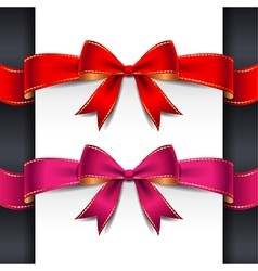 ribbon red pink bows vector image vector image