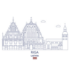 riga city skyline vector image