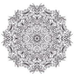 Round detailed pattern vector