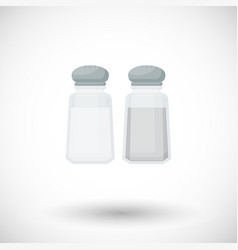 salt and pepper shaker flat icon vector image
