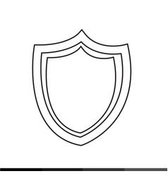 shield security anti virus icon design vector image