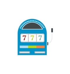 Slot machine jackpot flat icon vector