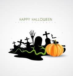 Spooky halloween design vector