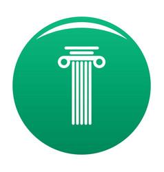 Square column icon green vector