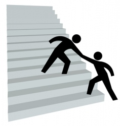 stairway to success vector image