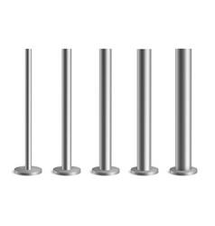 Steel poles metal pillars for urban advertising vector