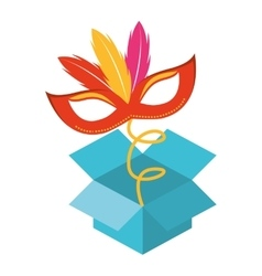 surprise box Fools Day icon vector image