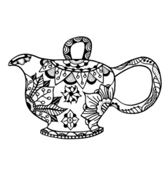 Teapot isolated vector image
