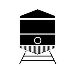 Tram vehicle icon vector