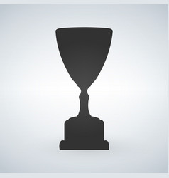 trophy cup flat icon isolated on white background vector image