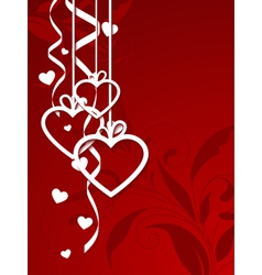 valentines shape vector image