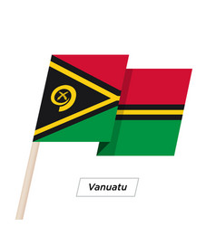 vanuatu ribbon waving flag isolated on white vector image