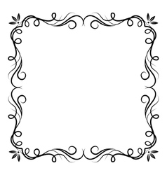 Vintage swirl frame vector