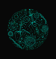Virus background image vector