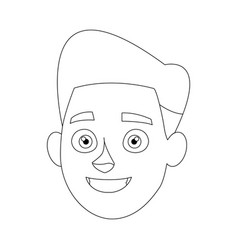 Avatar people man face head character vector