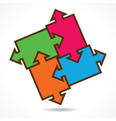 creative color puzzle design background vector image