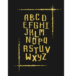 Golden glitter alphabet for holiday designs vector image vector image