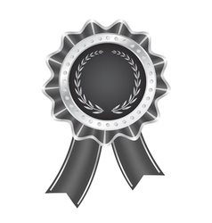Gray Award Ribbon vector image vector image