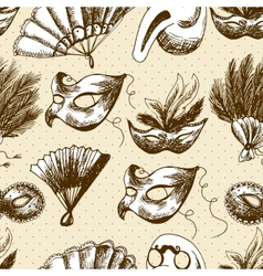 Hand Drawn Carnival Seamless Background vector image