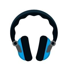 headphone music device icon graphic vector image