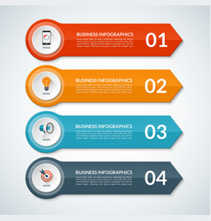 Infographic template banner with 4 options vector image vector image