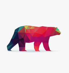 polar bear polygon silhouette vector image vector image
