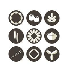 Rice Icon set vector image