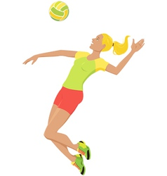 volleyball girl vector image vector image