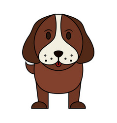 color image cartoon front view dog animal vector image
