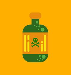 flat icon stylish background potion in bottle vector image