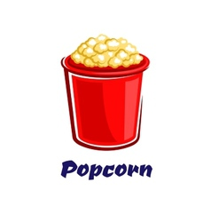 Fresh popped cartoon takeaway popcorn vector image vector image