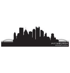 Pittsburgh Pennsylvania skyline Detailed silhouett vector image vector image