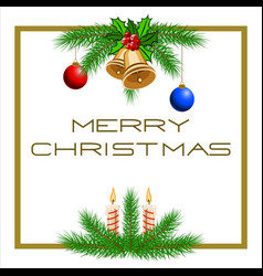 template christmas card vector image vector image
