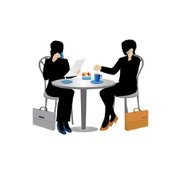 two businesswomen vector image
