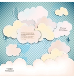 White banners and bubbles for speech vector image vector image