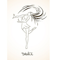 with dancing girl vector image vector image
